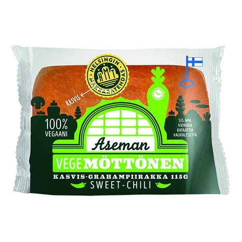 Aseman Vegemöttönen kasvis-grahampiirakka sweet-chili.