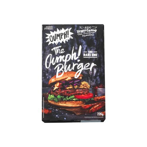 Oumph! -burgerpihvi maistuu varmasti sekasyöjillekin.