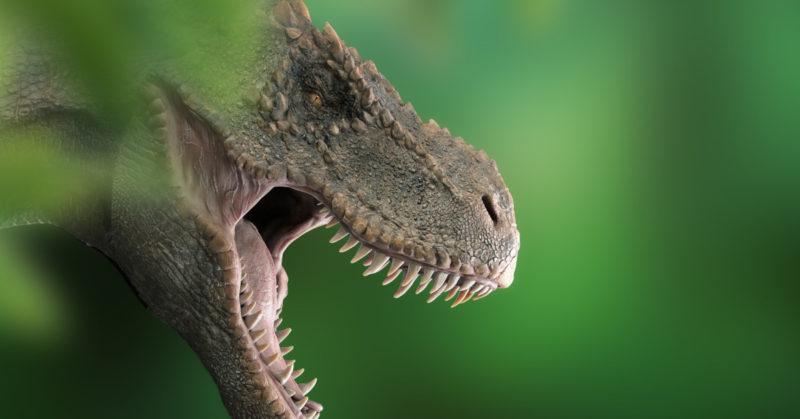 Tyrannosaurus, yksi kuuluisimmista dinosauruksista. Se on esiintynyt tiheästi elokuvissa ja kirjallisuudessa.