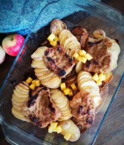 Inkivääriseitan omena-perunapedillä