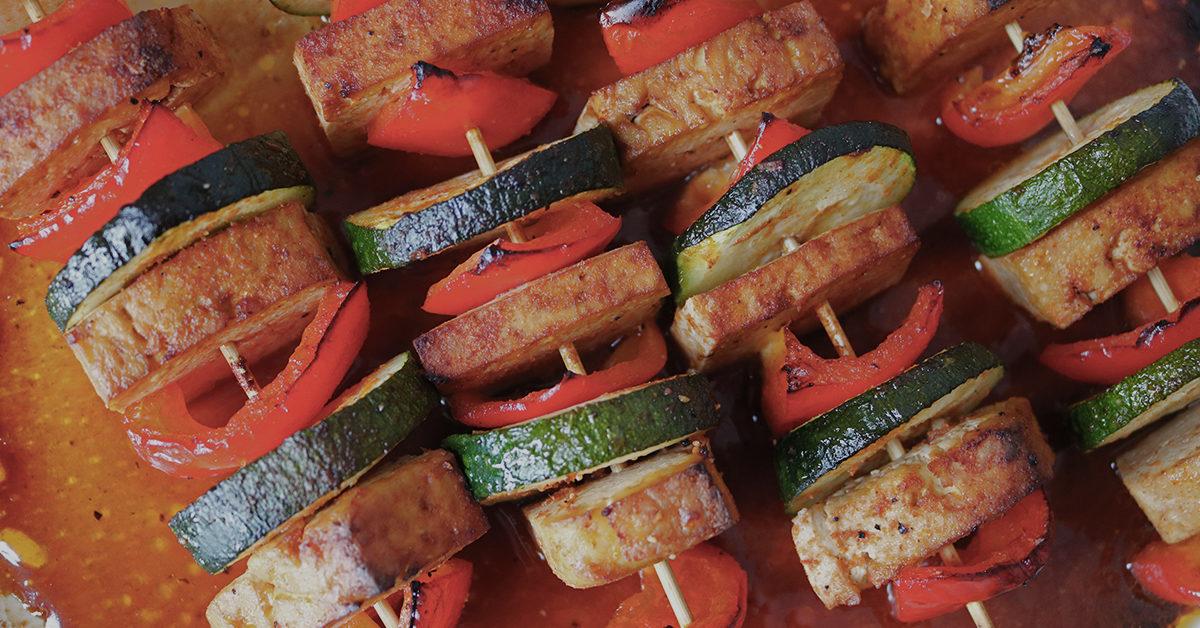 Vartaita todulla, paprikalla ja kesäkurpitsalla.